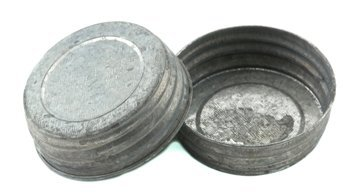 Galvanized Vintage Reproduction Lids for Regular Mouth Mason, Ball, Canning Jars, 4 Pack