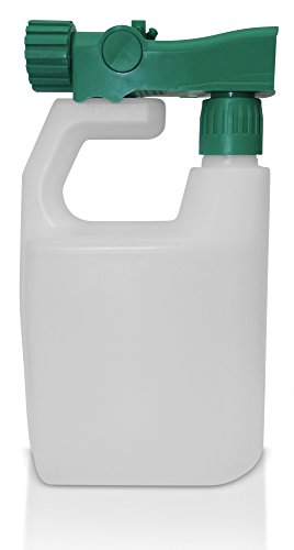 Refillable Multipurpose Hose Sprayer Bottle - Empty Ready-to-use Sprayer 3 oz per Gallon, Reusable, holds 32 ounces - Best for fertilizer, pesticides, herbicides, car wash and any other outdoor liquid