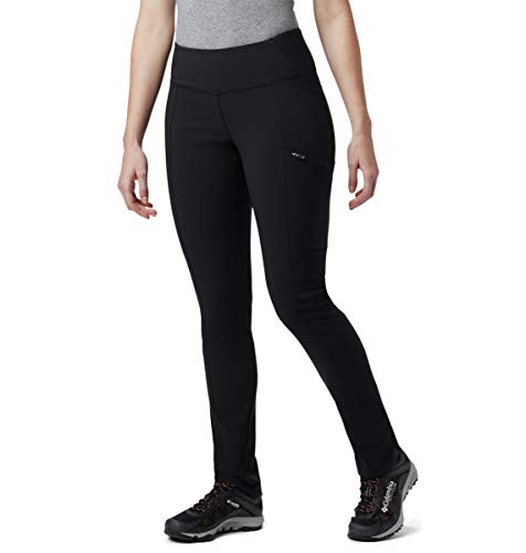 Columbia - Pantalones de Invierno cálidos para Mujer, Negro, MxR