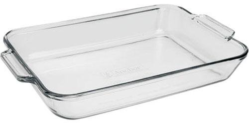 Fire-King-Anchor-Hocking-9x13-3qt-Glass-Baking-Dish-Cooking-Oven-Bake-13x9
