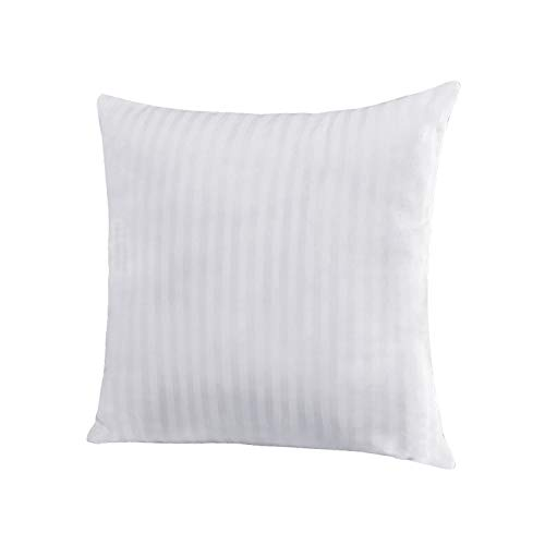 EvZ Homie Premium Stuffer Pillow Insert Sham Square Form Polyester, 20' L X 20' W, Standard White Striped