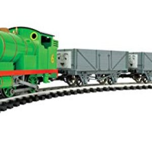 """Bachmann Trains – Thomas & Friend Percy and the Troublesome Trucks Ready To Run Electric Train Set – Large """"G"""" Scale 31WkmW 3EGL"""