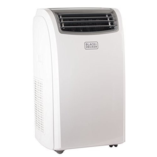 BLACK + DECKER 14000 BTU Portable Air Conditioner Unit, Remote, LED Display, Window Vent Kit, 4 Caster Wheels, White