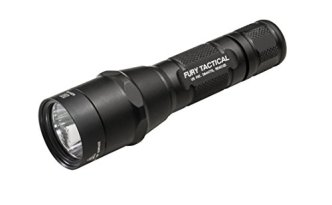 SureFire P2X Fury Tactical Single-Output LED Flashlight with anodizded aluminum body, Black