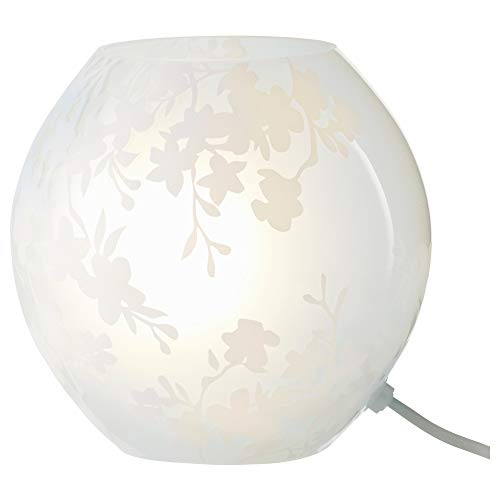 IKEA 504.161.72 Knubbig Table Lamp with Led Bulb, Cherry-Blossoms White