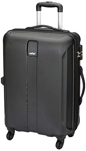 31XV3Q+FmdL - Safari Thorium Sharp Antiscratch 55 Cms Polycarbonate Black Cabin 4 wheels Hard Suitcase(21.65 Inch)