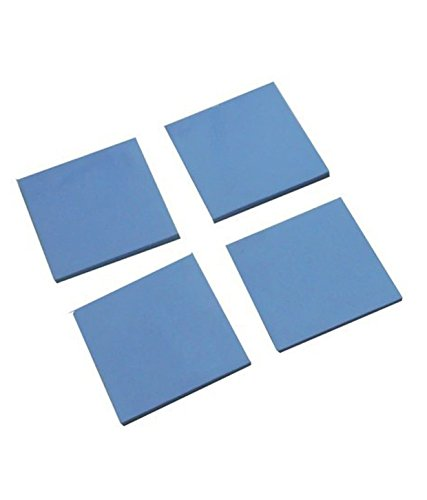 Buyyart New 4PCS 1.5MM Notebook Graphics Silicone Thermal Pad GPU Heat-Sink 15mm 15mm 1.5mm by Buyyart 69