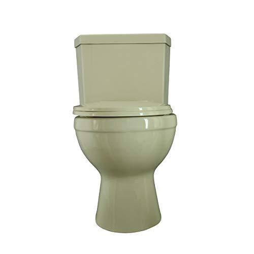 Renovator's Supply Biscuit China Round Dual Flush Bathroom Corner Toilet