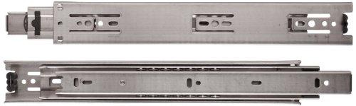 Sugastune ESR-3813 304 Stainless Steel Drawer Slide, Full Extension, Positive Stop, 19-11/16' Closed, 20' Travel, 73lbs/Pack (1 Pair)