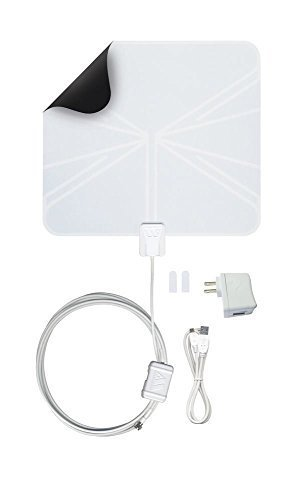 Winegard FlatWave Amped Amplified Digital Indoor HD TV Antenna - 50 Mile Long Range (Renewed)