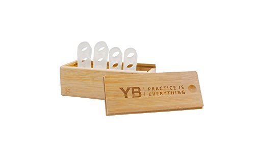 YOGABODY Naturals Toe Spreaders & Separators, Fast Pain Relief from Hammertoe & Bunions, Two Pairs in Stylish Wooden Box, Latex-Free Rubber Toe Stretchers Used for Nighttime, Yoga Practice & Running