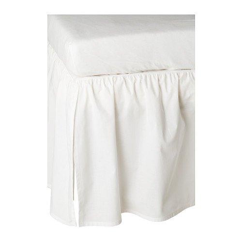 Ikea Len Crib Skirt, White, 28' x 52'