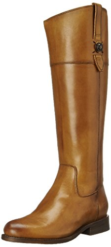 31YvTWbHfyL Knee-high riding boot featuring asymmetric opening and dual pull tabs Calf runs narrow Stacked leather heel