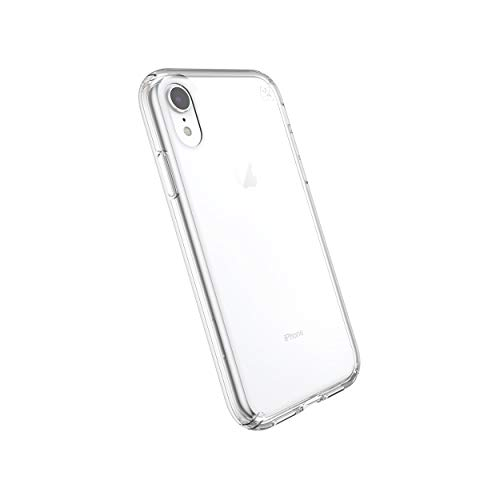 Speck Products Compatible Phone Case for Apple iPhone XR 6.1' Display, Presidio Stay Clear Case, Clear/Clear