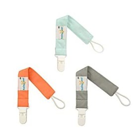 Image result for Babygoal Pacifier Clips Solid Color, 3 Pack Pacifier Holder for Boys and Girls Fits All Pacifiers & Baby Teething Toys and Baby Shower Gift