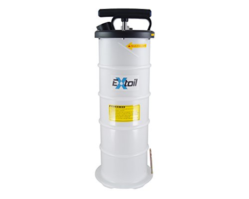 EXtoil 6-Liter Oil Extractor with Vacuum Gauge