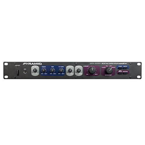 Mono Stereo Preamplifier Home Audio - Rack Mount Preamp For Turntable Phono, Tape Record/Player To Amplifiers/Sound Systems - Stereo Pre Amp W/ Microphone/Tuner/CD/AUX/Phono Input RCA - Pyramid PR2500