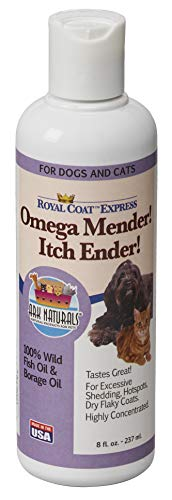 Ark Naturals Omega Mender! Itch Ender! Omega-6 & Omega-3 Dietary Supplement for Dogs and Cats, Relieves Itching, Reduces Shedding, Hot Spot Treatment, 8 oz. Bottle