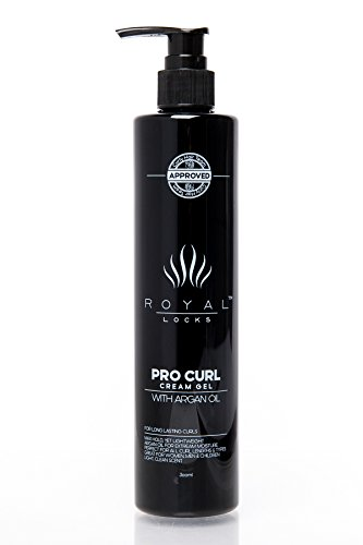 Curl Cream Gel by Royal Locks. Professional Curly Hair Product | Defining Gel Hold and Cream Moisture| Argan Oil Infused Anti Frizz.Perfect Bounce Soft Frizz Free Waves and Curl Natural or Perm