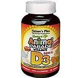 Nature's Plus - Animal Parade Vitamin D3 500 IU Children's Chewable - Black Cherry Flavor,  90 count