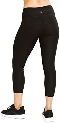 Sweat Shaper Women's Sauna Leggings Compression High Waist Yoga Pants Thermo Sweat Capris 3