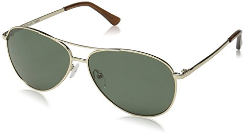 31a5G9ry7dL These sleek aviator sunglasses revive a classic silhouette with shallow-shaped polarized lenses, lightweight metal frames, a top bar, and anti-slip tips for a stay-put fit Three-barrel hinge ensures a snug fit, adjustable nose pads for comfort Prescription ready (Rx-able), polarized lenses with anti-reflective coating reduce glare for a crisp view