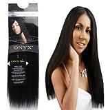 ONYX, 100% Elite Human Hair, Natural Essence Yaki, Affiliated with Black Diamond, 10', Color #2, Dark Brown
