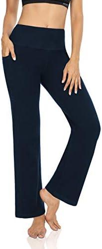 DIBAOLONG Womens Bootcut Yoga Pants Tummy Control with Pockets High Waist Long Workout Bootleg Leggings 1