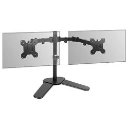 "Fully Adjustable Dual Monitor Stand | For 13-27"" Screens 