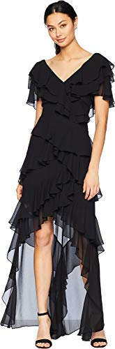 Badgley Mischka Size Guide   Showcase your fashion-forward style with this Badgley Mishka® V-Neck Flutter Ruffle.