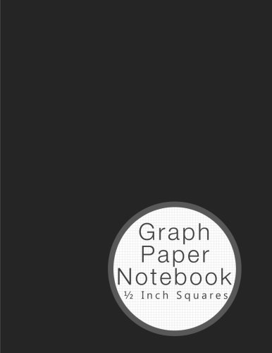 graph paper notebook 1 2 inch squares gray 8 5 11 graphing