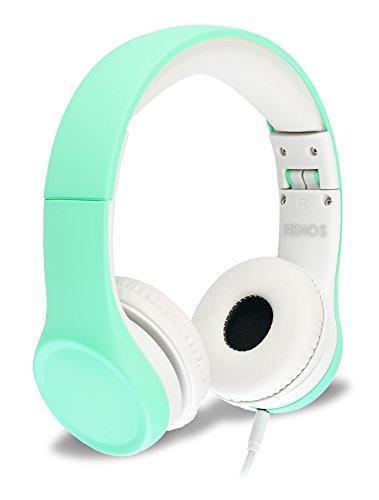 Nenos Children Headphones Kids Headphones Children's Headphones Over Ear Headphones Kids Computer Volume Limited Headphones for Kids Foldable (Mint)