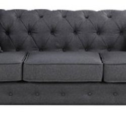 Divano Roma Furniture Classic Sofas, Large, Dark Grey