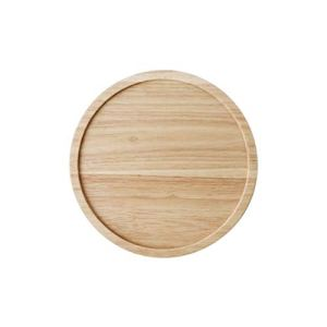 Cake Pan, Rotatable Wooden Pallet Wedding Dessert Plate Thickened Tray Snack Tray Party Tasting Tray Round Tray Bread Display Stand (Color : Khaki, Size : 20.4 * 20.4 * 2.5CM) 31blOnTLizL