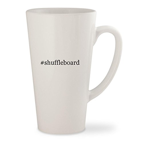 #shuffleboard - White Hashtag 17oz Ceramic Latte Mug Cup
