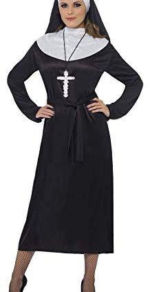 Smiffys-Costume-de-religieuse-noir-avec-robe-et-coiffe