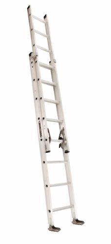 Louisville Ladder AE2216 Aluminum Extension Ladder 300-Pound Capacity, 16-Feet