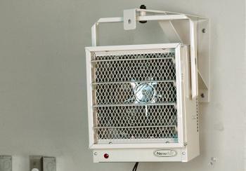 NewAir G73 electric garage heater in garage