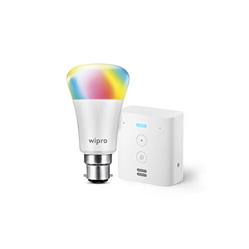 Echo Flex bundle with Wipro 9W LED smart color bulb