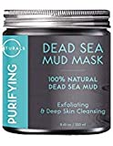 O Naturals Dead Sea Mud Mask – 100% Natural Vegan Purifying Face & Body Mask for Treating Acne, Exfoliating, Deep Skin Cleansing, Hydrating, Reducing Wrinkles. Enriched with Aloe Vera. 8.45 oz.