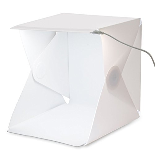 PEROINE Portable Mini Studio Foldable Photo Photography Kit LED Soft Light Box With Black And White Background