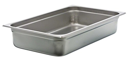 Update International NJP-1004 24-Gauge Stainless Steel Anti-Jam Steam Table Pan, Full, 14.5-Quart