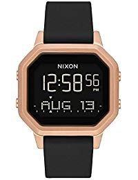 Nixon Women's Siren SS Digital Watch Rose Gold Black 36mm