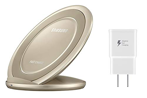 Samsung Qi Certified Fast Charge Wireless Charger Stand (2016 Edition) - US Version - Gold
