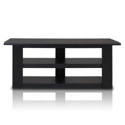 Furinno Parsons 42-in TV Entertainment Center, Standard 42.1″(W) x16.5(H) x13.4(D), Black