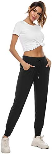 Sykooria Women's Jogger Pants Athletic Sweatpants Active Yoga Lounge Drawstring Workout Running Sports Trousers with Pockets 6