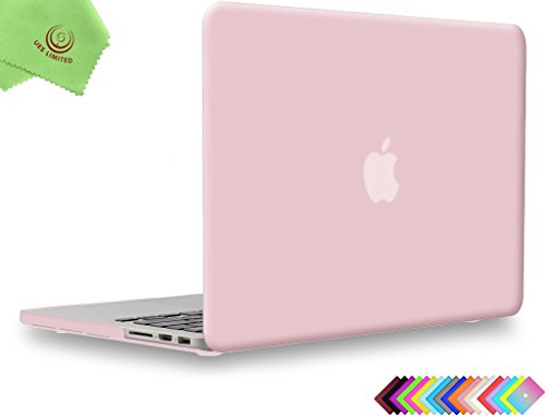 UESWILL Matte Hard Shell Case Cover for MacBook Pro 13' with Retina Display (No CD-ROM, No USB-C) (Model A1502/A1425, Version Early 2015/2014/2013/Late 2012), Rose Quartz
