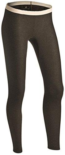Indera Women's Raschel Knit Merino Wool Blend Thermal Underwear Pants, Moss Green, Medium