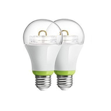 2-Pack GE Link Smart LED Light Bulb, A19 Soft White (2700K), 60-Watt Equivalent, Zigbee, Compatible with Alexa