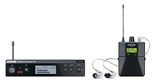 Shure P3TRA215CL PSM300 Wireless Stereo Personal Monitor System with SE215-CL Earphones, G20
